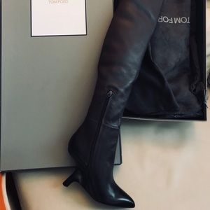 1356736ed576 Tom Ford Shoes | Over The Knee Chunky Heeled Boots 38 | Poshmark